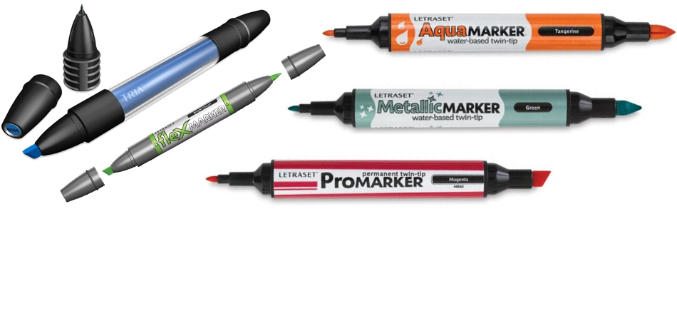 Marcadores Letraset