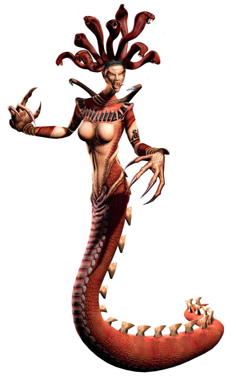 Medusa no jogo God of War, da Santa Monica e Sony. Sendo uma franquia exclusiva para plataforma Playstation.