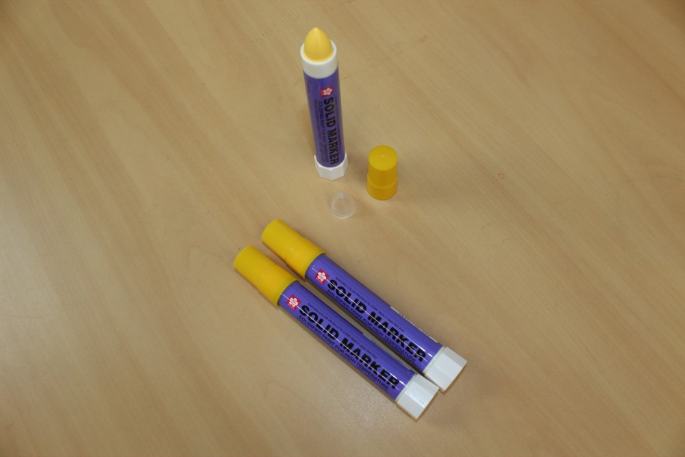 solid marker marcador industrial amarelo